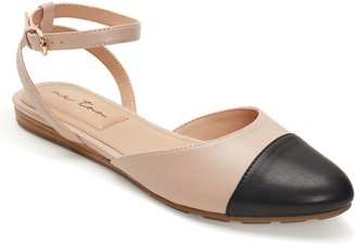 Me Too Leather Ankle-Strap Flats - Antonia