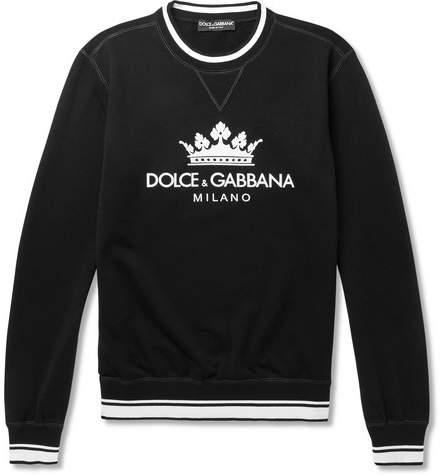 Dolce & Gabbana Printed Loopback Cotton-Blend Jersey Sweatshirt