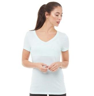 Reebok Womens V-Neck T-Shirt Mist
