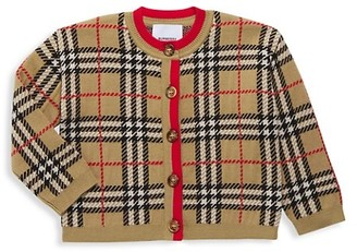 Burberry Baby's & Little Girl's Mini Edie Archive Plaid Sweater