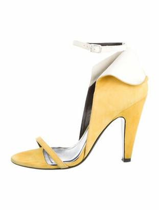 Calvin Klein Suede Sandals Yellow Suede Sandals