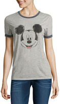 Freeze Short Sleeve Crew Neck Mickey Mouse T-Shirt-Juniors