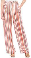Soulmates Vertical Stripe Wide Leg Tie-Front Pants