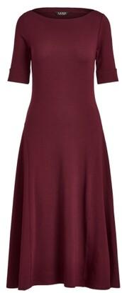 Lauren Ralph Lauren Ralph Lauren Stretch Cotton Midi Dress
