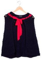 Oscar de la Renta Girls' Wool Knit Poncho w/ Tags