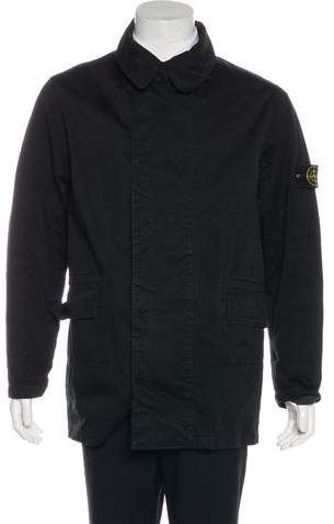Stone Island Layered Button-Up Coat