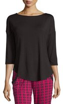Cosabella Talco 3/4-Sleeve Top, Black