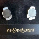 Saint Laurent Silver Metal Earrings