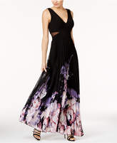Xscape Evenings Printed Chiffon Gown