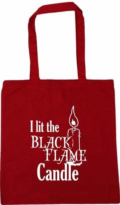 HippoWarehouse I Lit The Black Flame CandleTote Shopping Gym Beach Bag 42cm x38cm 10 litres