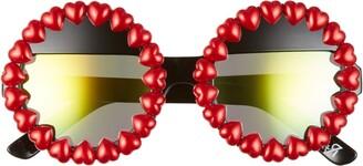 Rad + Refined Heart Round Sunglasses