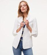 LOFT Petite Linen Cotton Notched Blazer