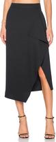 KENDALL + KYLIE Asymmetric Drape Skirt