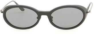 Self-Portrait Oval Frame Sunglasses