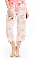 Hue HUEtopia Bird Circle-Print Jersey Capri Sleep Pants