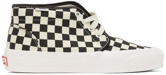 Vans Black and White Check OG Chukka LX High-Top Sneakers