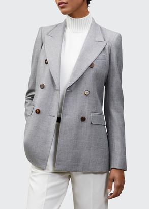 Lafayette 148 New York Chadwick Timeless Italian Wool Silk Suiting Blazer