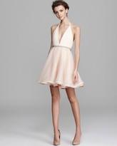Alice + Olivia Dress - Belted Gathered Halter