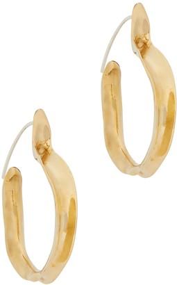 ARIANA BOUSSARD-REIFEL Kiki Brass Hoop Earrings