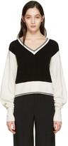 Chloé Black Cashmere Varsity Sweater