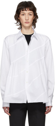 Comme des Garcons White Spiral Seam Shirt