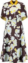 DELPOZO Layered printed crepe dress