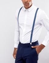 Asos Suspenders In Denim Blue