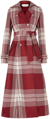 Gabriela Hearst Checked Wool-blend Trench Coat