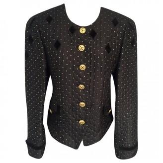 Basler Black Silk Jacket for Women Vintage