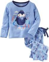"Osh Kosh Oshkosh Bgosh Girls 4-14 Brrr"" Penguin Top & Fleece Tree Bottoms Pajama Set"
