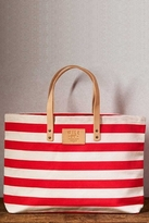 Will Leather Goods Bright Carry-All Bag in Red Stripe