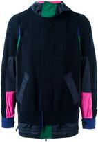 Sacai deconstructed hooded jacket - men - Cotton/Acrylic/Polyester - 2