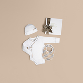 Burberry Check Cotton Three-piece Baby Gift Set