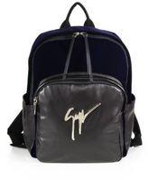Giuseppe Zanotti Velvet & Leather Backpack