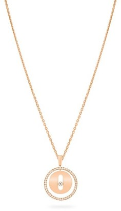 Messika Lucky Move PM 18K Rose Gold & Diamond Pendant Necklace