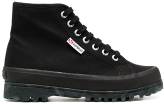 Superga Lace-Up High Top Sneakers