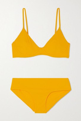 Les Girls Les Boys Ribbed Underwired Bikini - Yellow