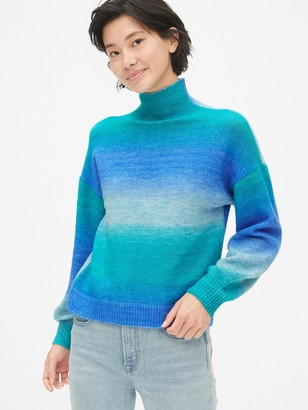 Gap Ombre Blouson Sleeve Turtleneck Sweater
