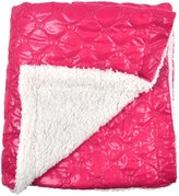 Tadpoles Quilted Nylon Puffer Blanket w/Sherpa Backing- Fuchsia - Fuchsia