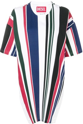 Diesel striped tunic T-shirt