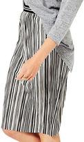 Miss Selfridge Stripe Plisse Midi Skirt