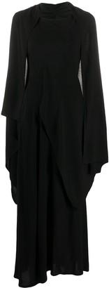 Yohji Yamamoto Draped Maxi Dress