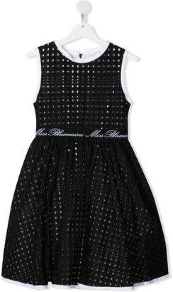 Miss Blumarine Perforated Flared Style Dress