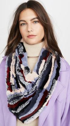 Adrienne Landau Knit Rabbit Triangle Scarf