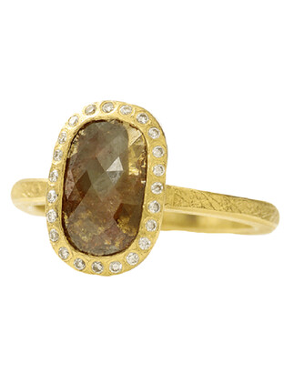 Todd Reed Fancy Cut Red Diamond Ring