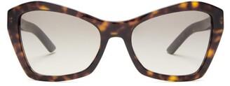 Prada Square Cat-eye Tortoiseshell-acetate Sunglasses - Womens - Tortoiseshell