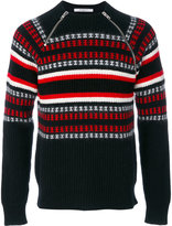 Givenchy Cuban-fit zip detail jumper