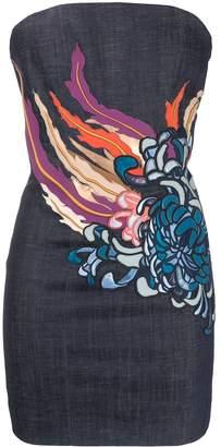 DSQUARED2 Floral Denim Mini Dress