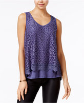 Amy Byer Juniors' Tiered Lace Tank Top