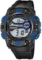 Calypso Unisex Digital Watch with LCD Dial Digital Display and Black Plastic Strap K5691/3